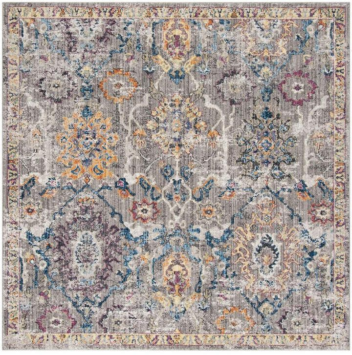 Safavieh Bristol Gray And Blue 7 X 7 Square Area Rug Area Rugs