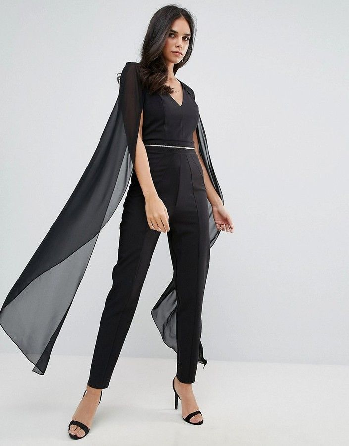 dbca96ed06 Forever Unique Jumpsuit With Chiffon Cape