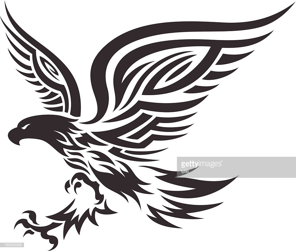 Eagle In Tribal Style Tribal Animal Tattoos Eagle Tattoo Tribal Eagle Tattoo