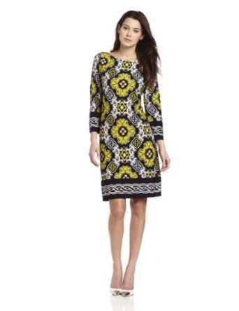 Jessica Howard Women's Petite Printed Side Tie Dress