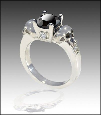 Womens Skull Wedding Rings Wedding Rings Board Pinterest Skull