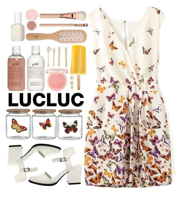 """Lucluc #28"" by blueberrylexie ❤ liked on Polyvore featuring Crate and Barrel, Juliska, philosophy, Essie, Philip Kingsley, Lord & Taylor, Paul & Joe, Jules Smith and Korres"