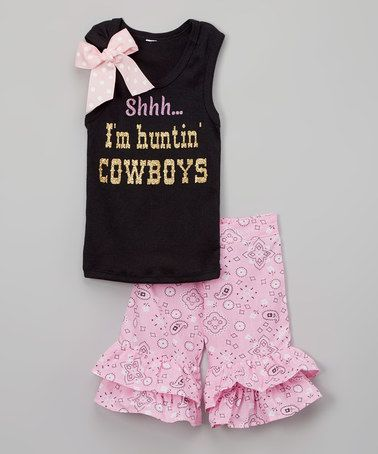 Look What I Found On Zulily Black Shhh Tank Amp Pink