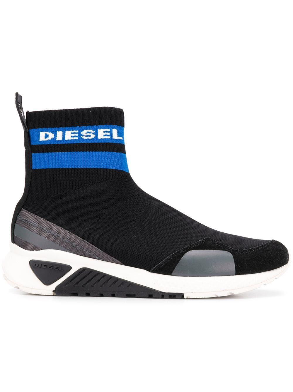 3a90670e8f9f DIESEL DIESEL S-KB SOCK SNEAKERS - BLACK.  diesel  shoes