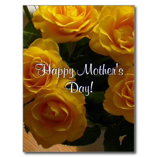 Happy Mother S Day Yellow Roses Postcard Zazzle Com Happy Mothers Day Happy Mothers Yellow Roses