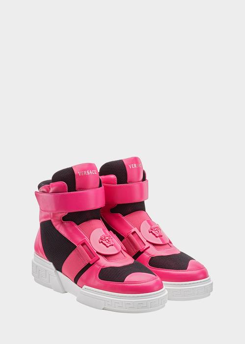 Medusa Strap Hi-Top Banded Sneakers