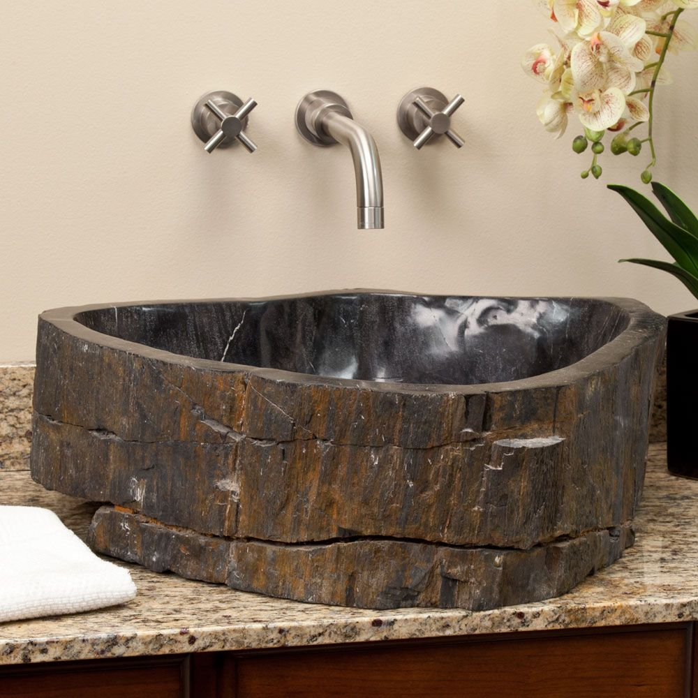 bowl sinks for bathrooms with vanity 48 quot halstead vanity for semi recessed sink petrified 25169