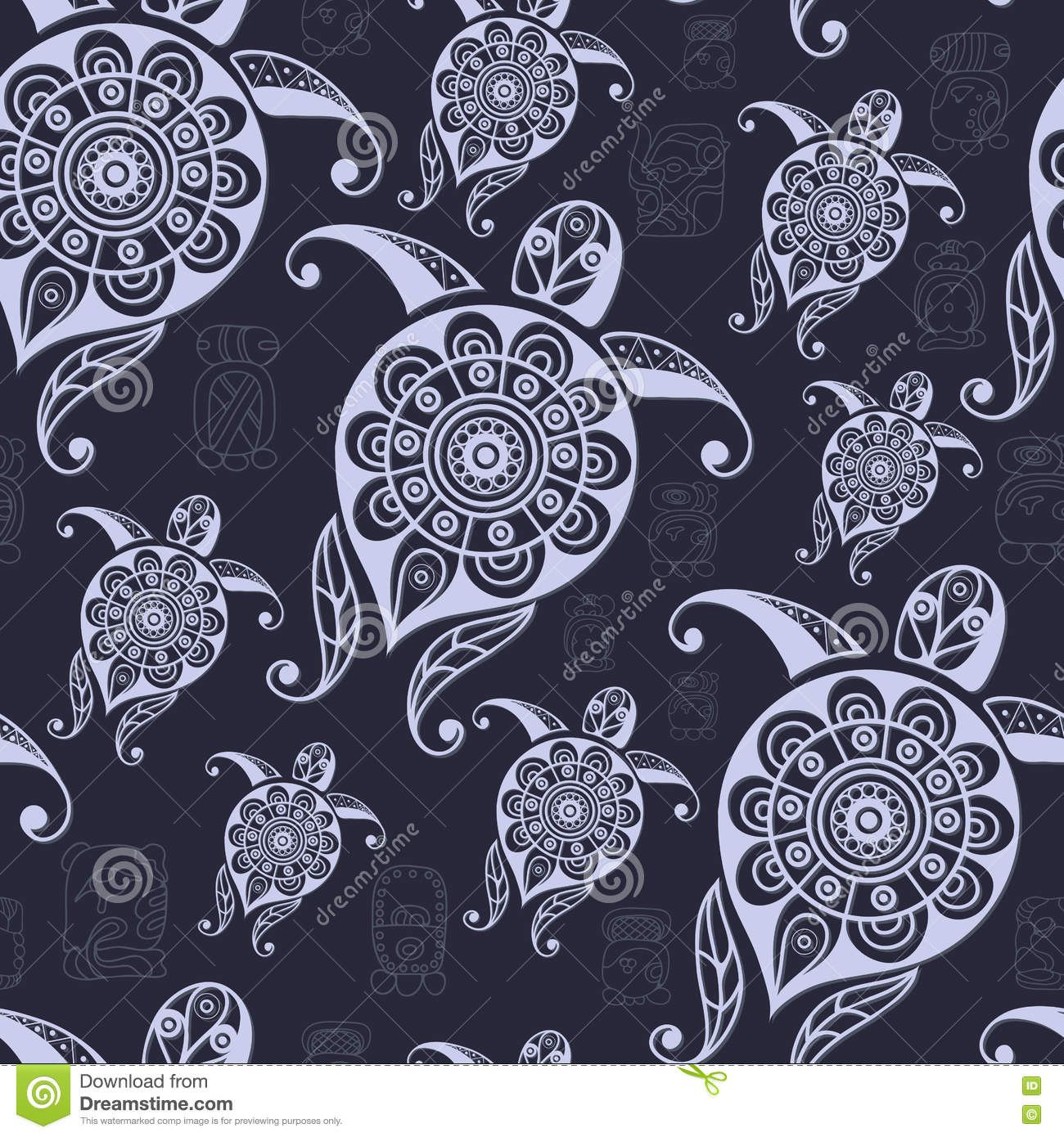 ethnic-maya-texture-totem-seamless-art-boho-pattern-