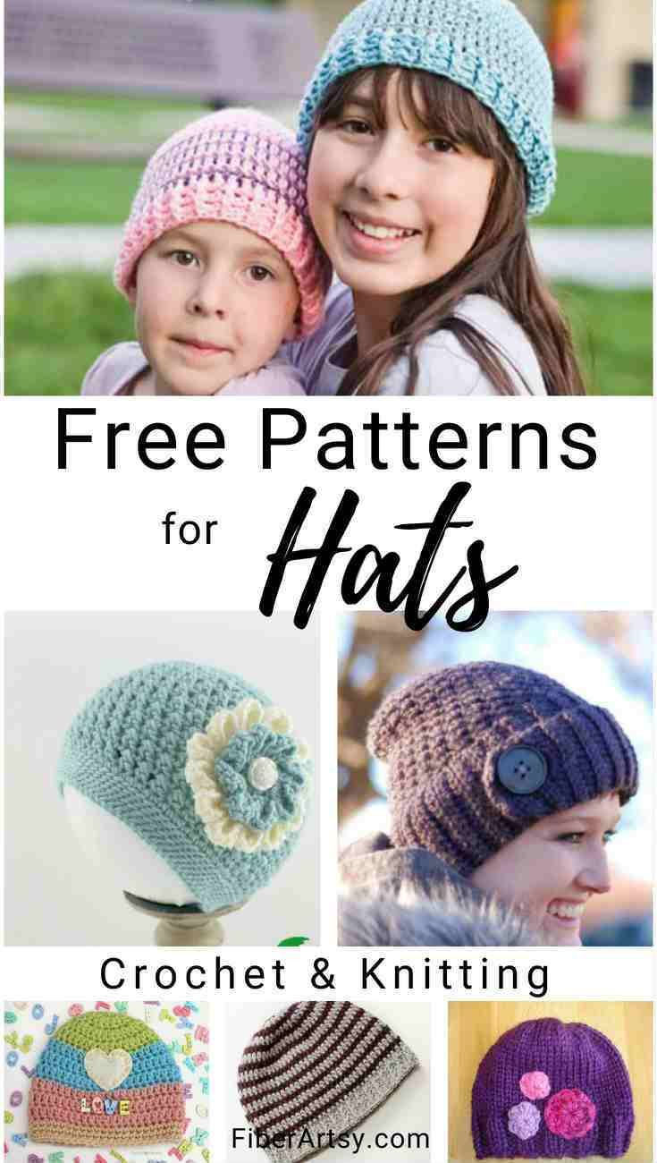 9f7e52c41db14 Free hat patterns for knitting or crochet for baby hats