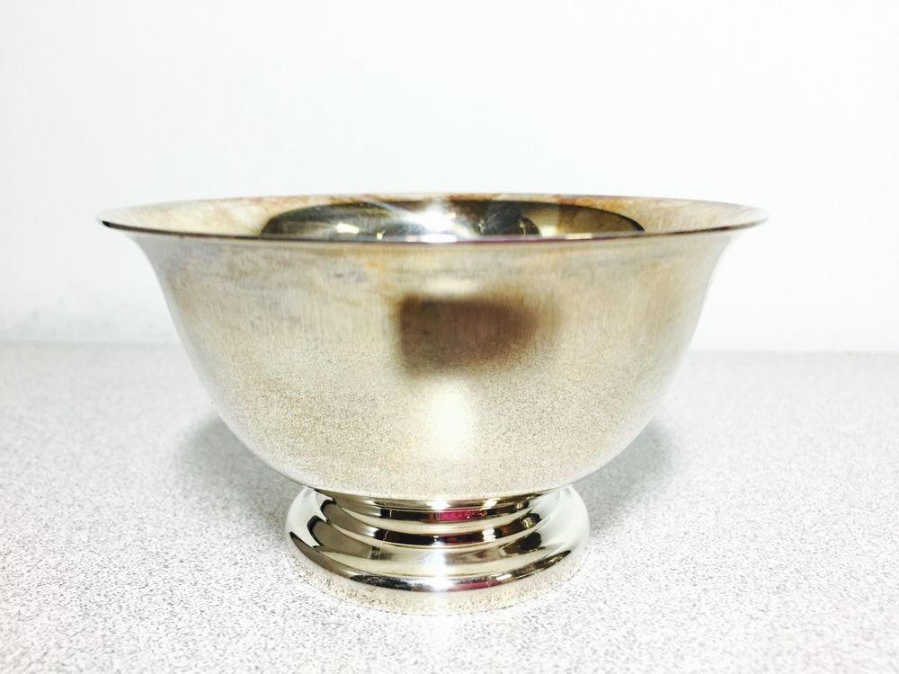 Reed Barton Silver Plate Paul Revere Design Bowl 14 Design