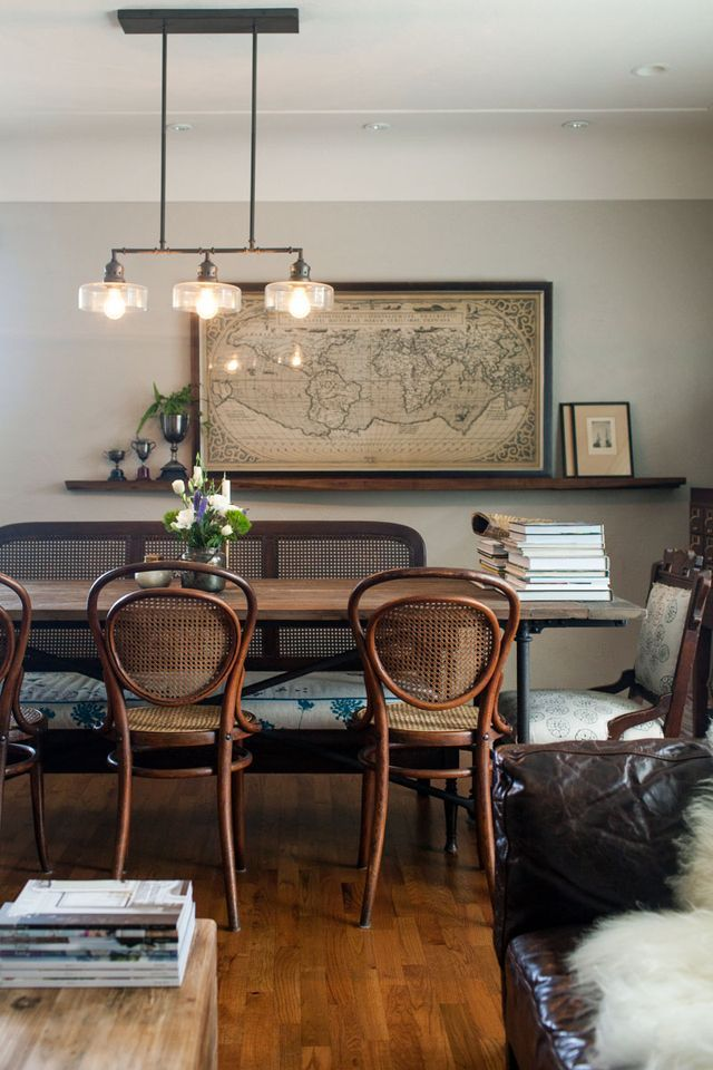 "Described and featured by Design Sponge as ""Postwar construction meets prewar charm"". Vintage charm, details and history at it´s best. Via Husligheter on Pinterest with thanks. Foto by Kelly Brown"