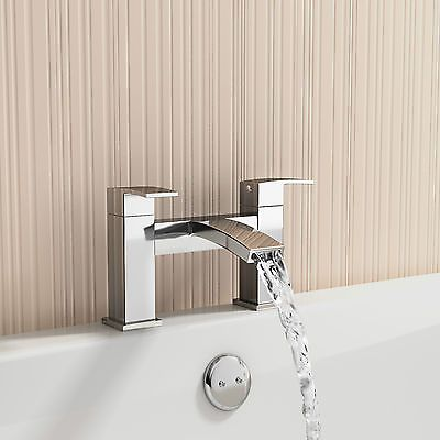 Modern Bathroom Tap Set Square Water Basin Mixer Bath Filler Shower ...