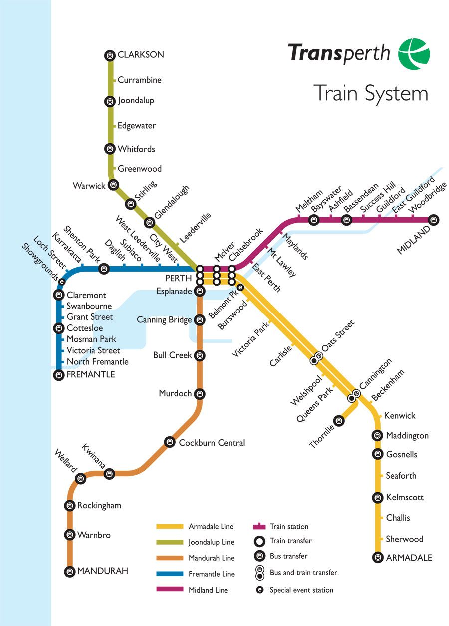 Perth Train Station Map trains perth western australia   Google Search | Places I've been  Perth Train Station Map