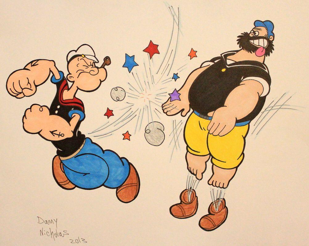 Popeye vs Brutus by bandidacega on deviantART Bluto Pinterest