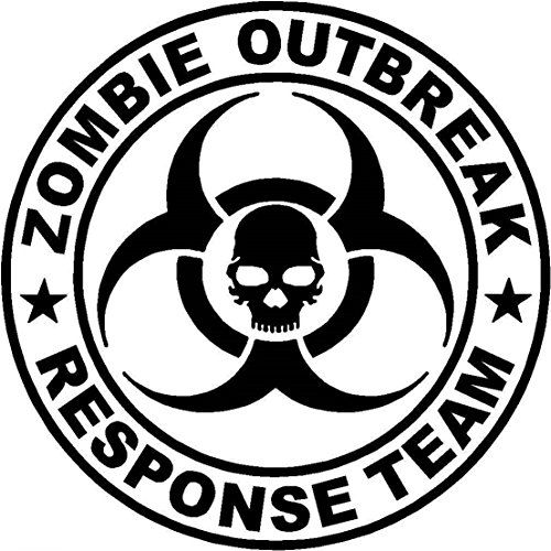 Cat food vinyl decal 1 pc wonderful popular zombie outbreak response team stickers sign
