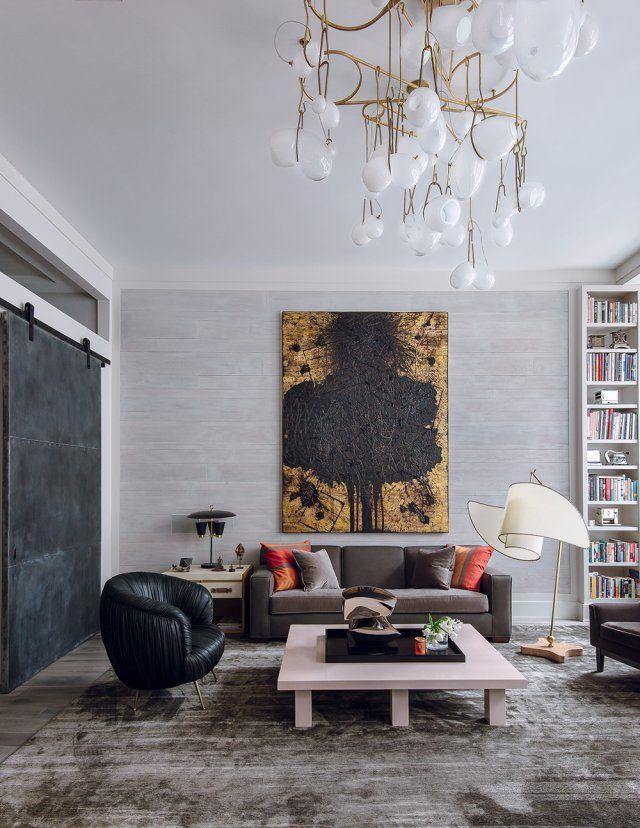 un salon contemporain arty marie claire maison