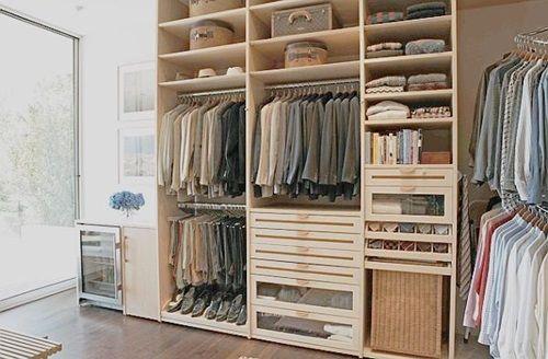 Projetos de closets pequenos com medidas Closet designs