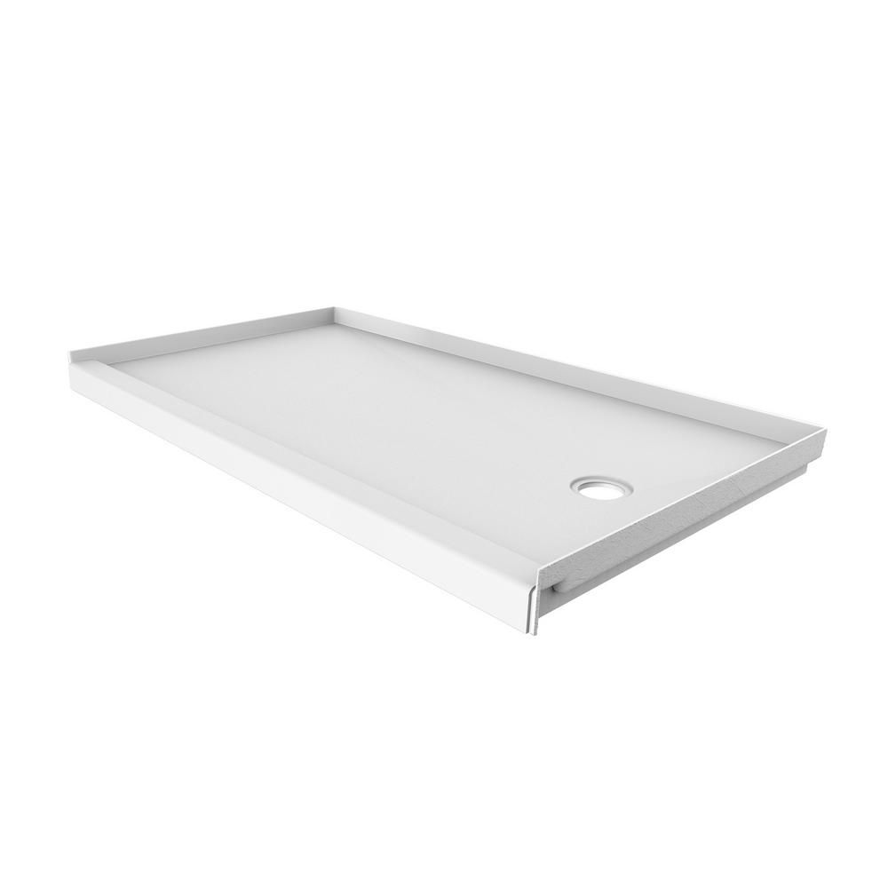 Flexstone 32 In X 60 In Single Threshold Shower Base With Right