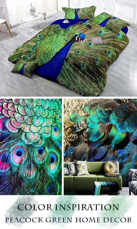 Make An Amazing Room Is So Easy With These Peacock Home Decoration Items Bring The Colors Of Peacock Feathers Into Your Peacock Decor Peacock Wall Art Peacock
