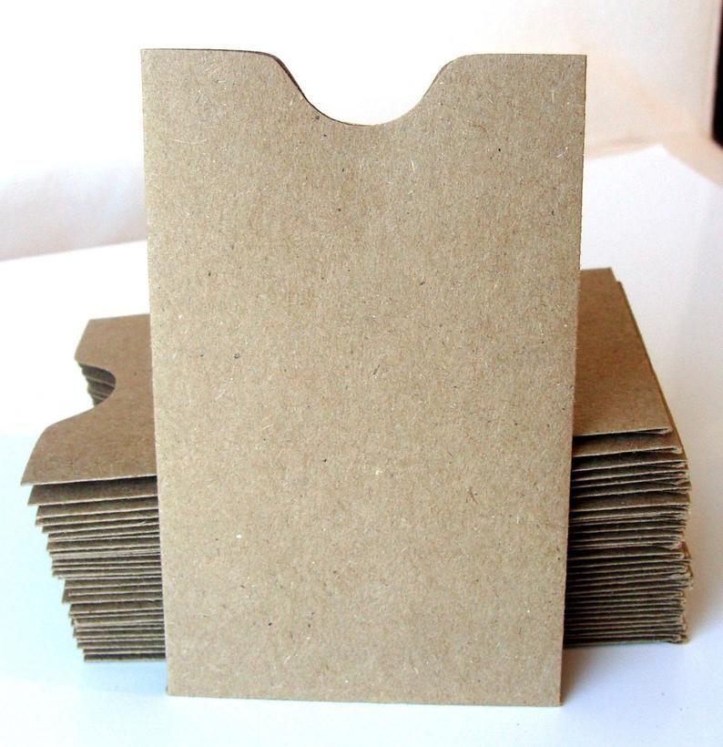 20 Mini Natural Kraft Card Sleeves Brown Bag Sleeve Etsy In 2021 Card Sleeve Card Sleeves Paper Cards