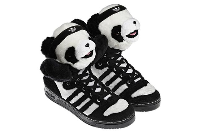 size 40 7bb3d 95c33 Jeremy Scott x Adidas Panda Bear  sneakers  kicks  jeremyscott  adidas   pandas  bw  weird  fashion  shoes