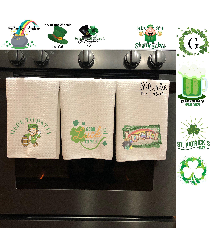 Funny Dish Towel Funny Tea Towel St Patricks Day Hand Towels