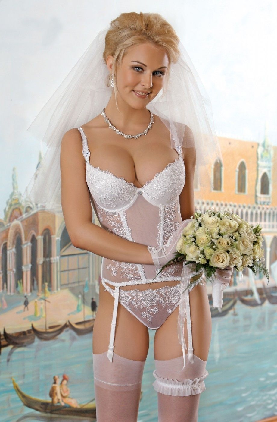 Tops exposed stocking Brides