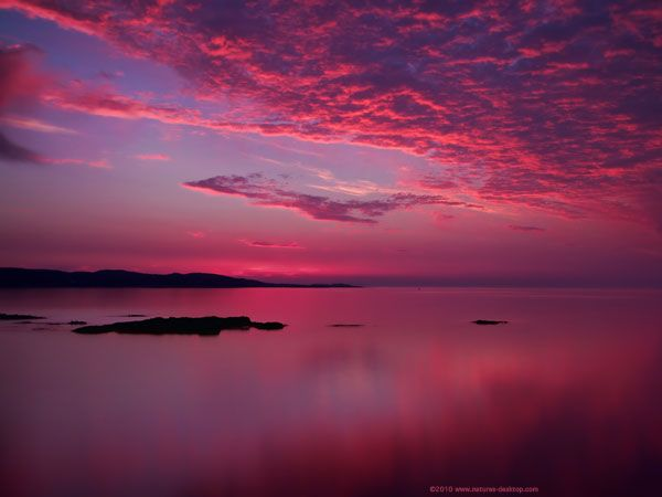 pink clouds background sunset background of pink skies over the ocean at loch ewe in scotland pink sunset pink sky sunset wallpaper pink clouds background sunset