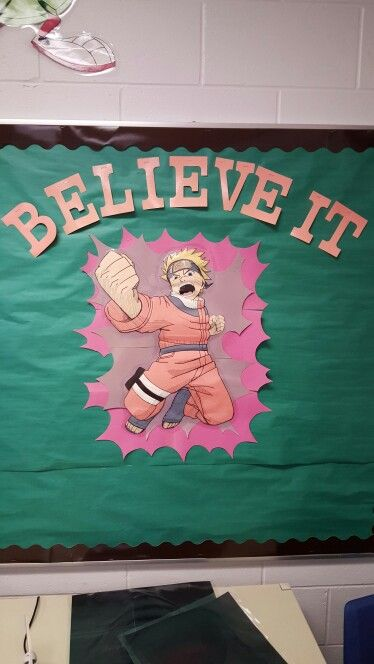 Naruto motivational bulletin board had my anime loving - Naruto boards ...