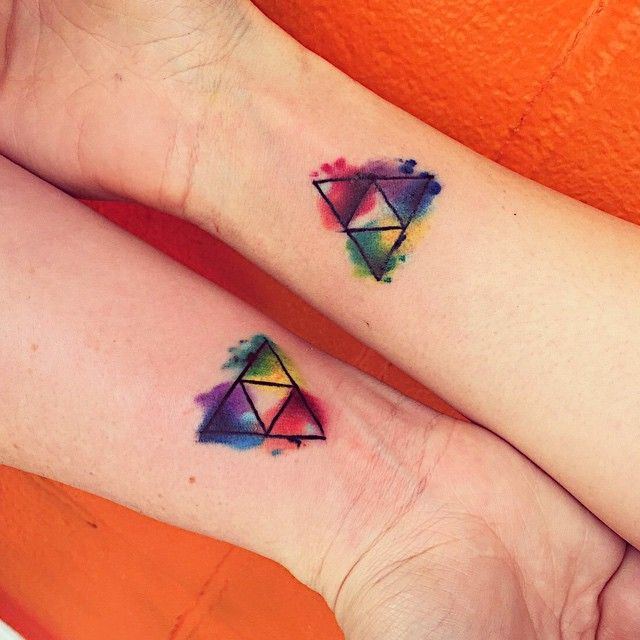 Triforce watercolor tattoo baton rouge la baton rouge for Best tattoo shops in baton rouge