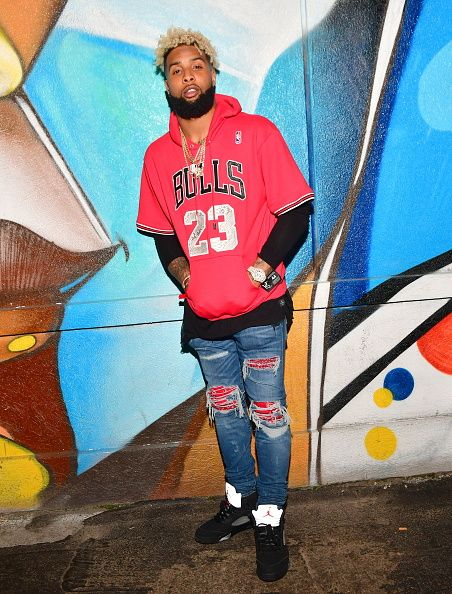 brand new 8ab90 b73e8 Odell Beckham Jr at Club Mercy Houston, TX | Odell Beckham ...