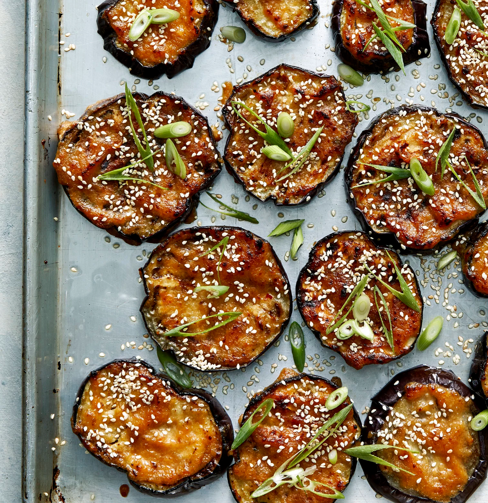 Roasted Eggplant With Miso And Sesame Seeds Recipe Recipe In 2020 Roasted Eggplant Recipes Sesame Seeds Recipes Eggplant Recipes Easy
