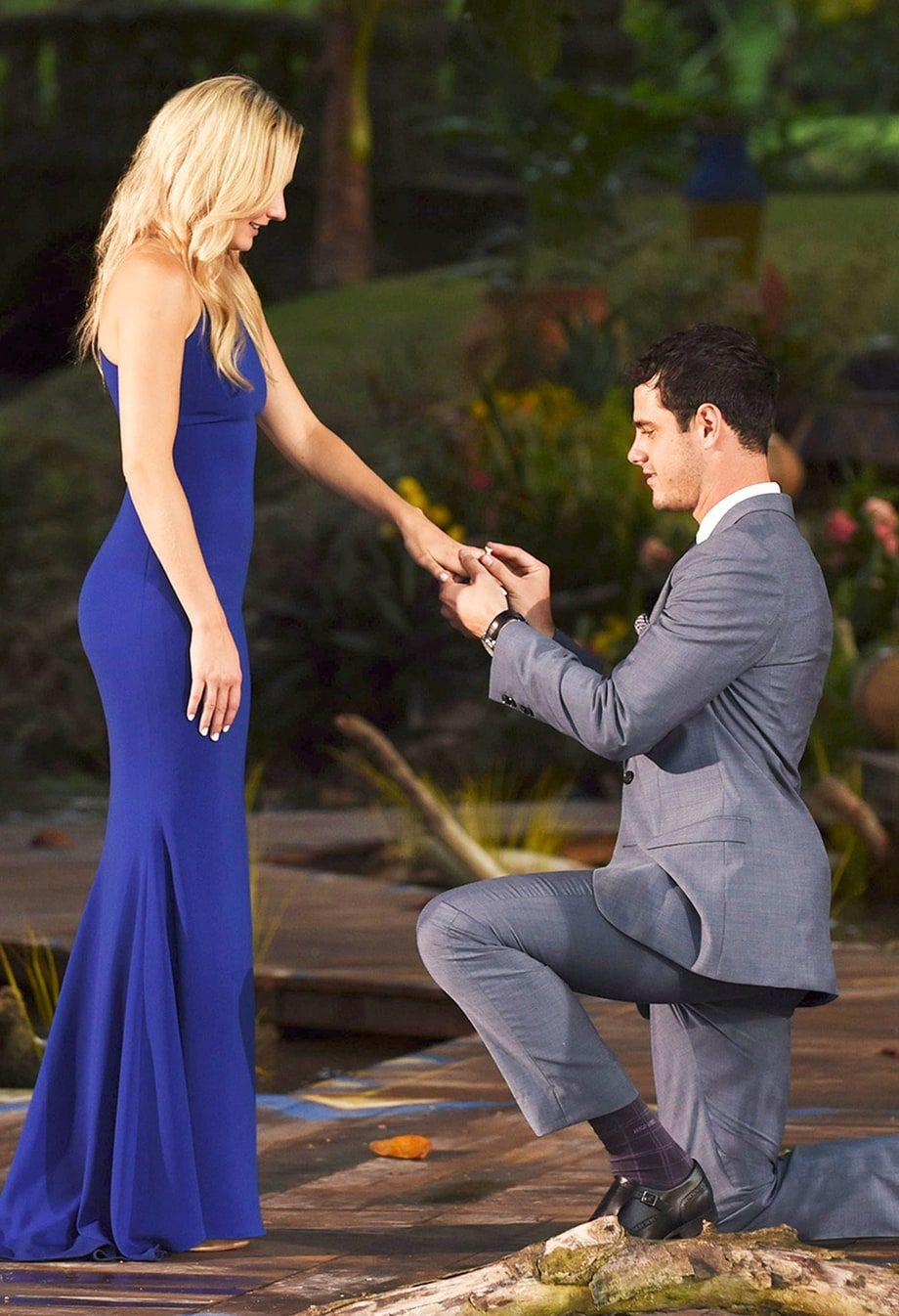 Bachelor Ben S 100k Diamond Engagement Ring All The Details Bachelorette Tops Ben And Lauren Celebrity Style