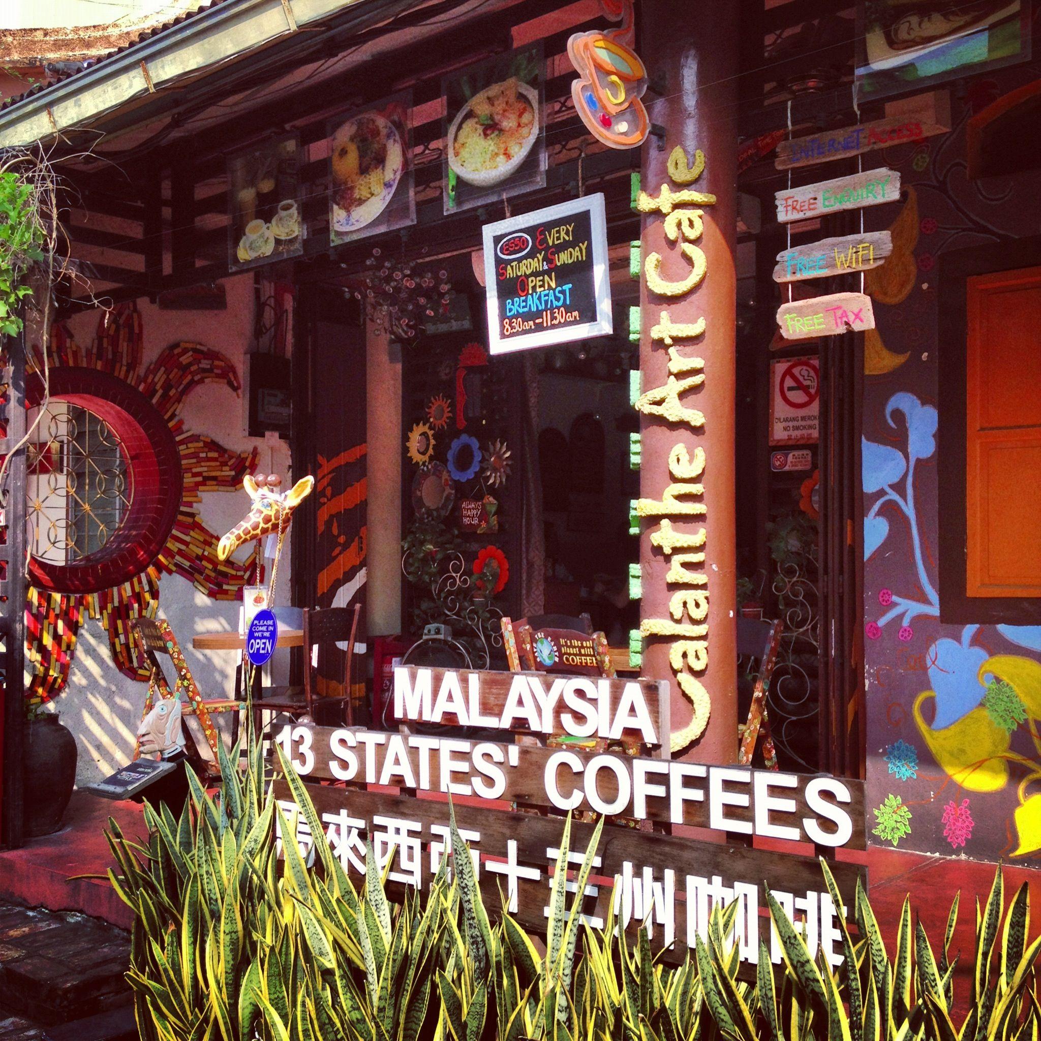 13 states coffee of Malaysia Melaka, Malaysia Cafe art