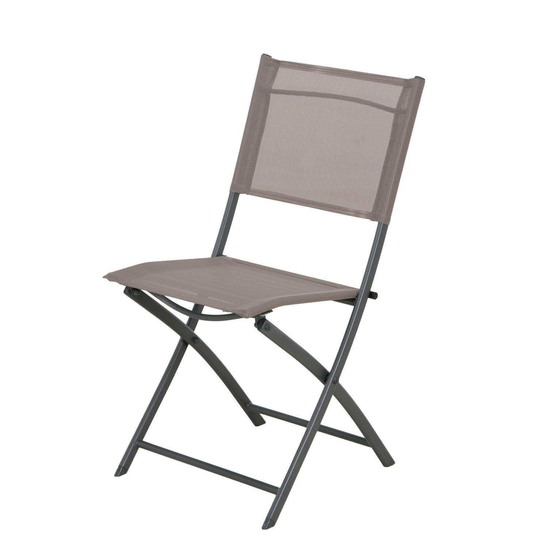 Chaise De Jardin En Acier Denver Taupe Bureau Pliant Chaise Et