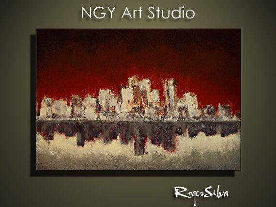 NGY A Large 30 x  40 RSilva Original Modern by NGYartstudio, $250.00