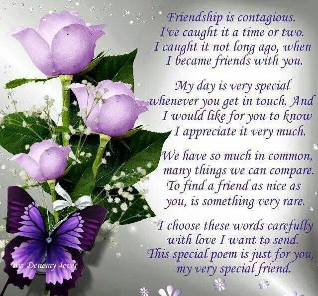 Image result for you are a special friend to me blessings