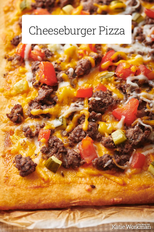 Easy Cheeseburger Pizza Recipe The Mom 100 Recipe Recipes Pizza Recipes Food