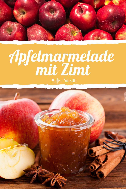 Herbstliche Apfelmarmelade mit Zimt