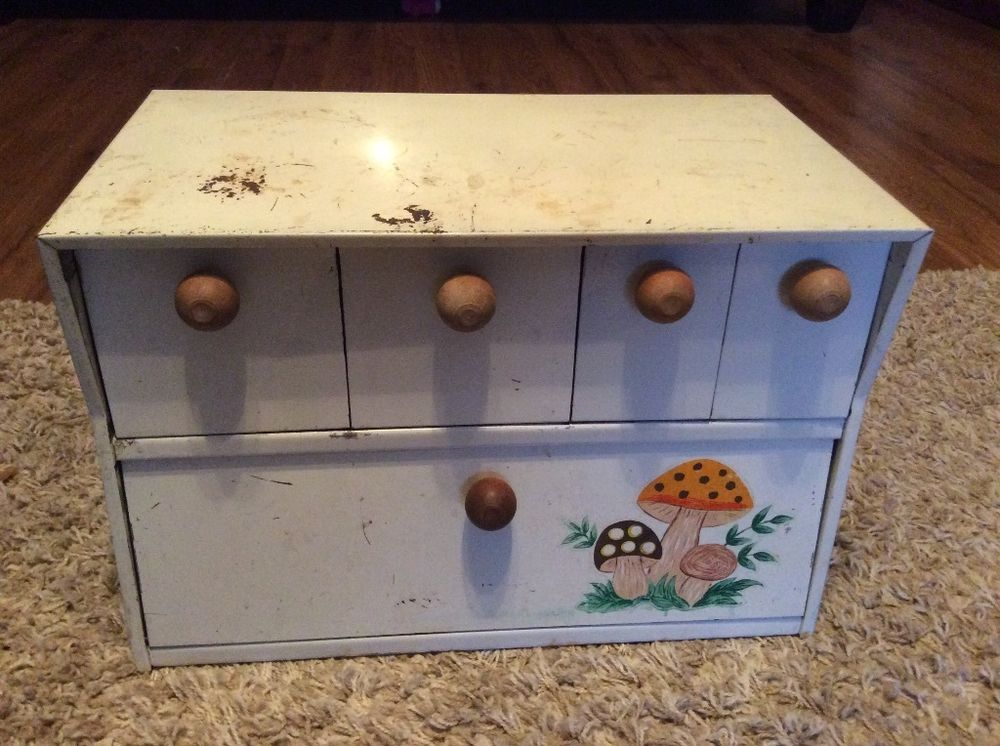 Vintage Merry Mushroom Bread Box