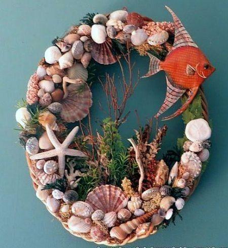 разобраться, картинки из природного материала морские твои