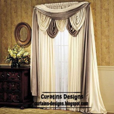 Classic Curtain Designs Greek Style White Design Scarf Curtains