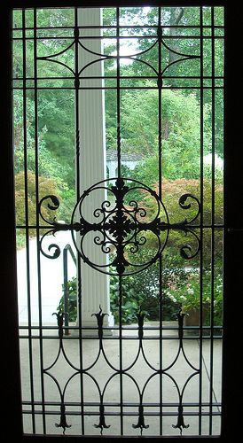 Looking out front door | Front doors, Doors and Wrought iron