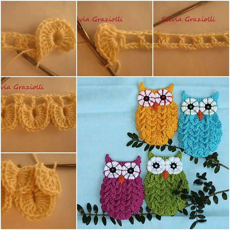 How to Crochet Crocodile Stitch Owl With Patterns   Patrones ...