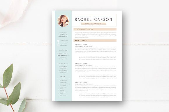 Modern Resume Template 3 Page by By Stephanie Design on - resume template
