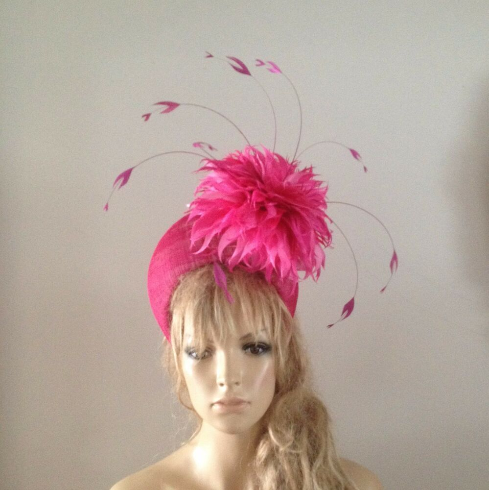 Races Wedding Fascinator On Clip Hats you Ascot Feathers