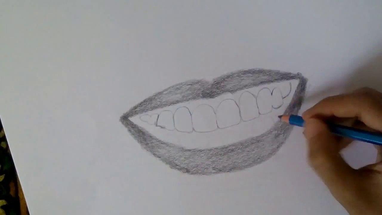 رسم فم مع اسنان Draw A Mouth With Teeth Google Home Mini Blog Art