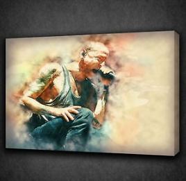 Grunge Style Chester Bennington Linkin Park Music Wall Art Canvas Music Wall Art Canvas
