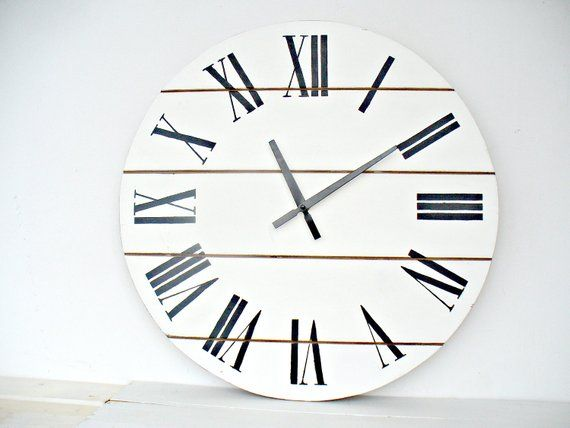 20 White Farmhouse Rustic Distressed Wall Clock Can Be Etsy In