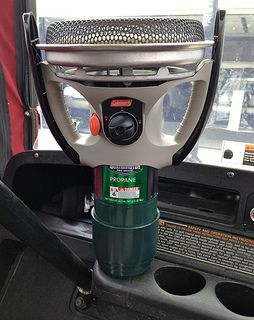 Golf Cart Heaters Used In Combination With A Golf Cart